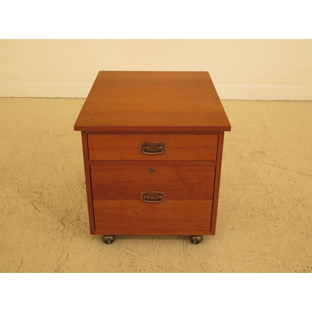 Stickley Mission Arts & Crafts Style Cherry File Cabinet For Sale - Image 13 of 13
