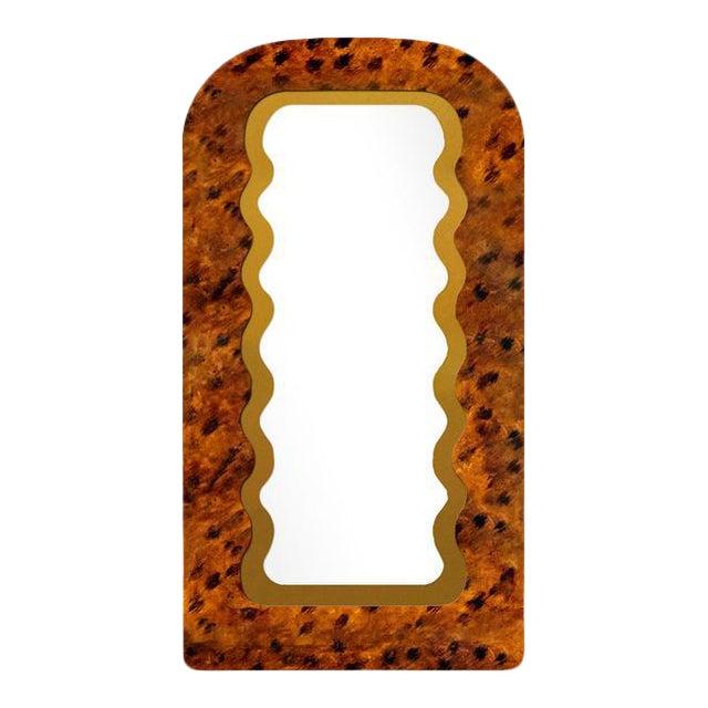 Fleur Home x Chairish Fleur Tall Mirror in Tortoise, 43x84 For Sale