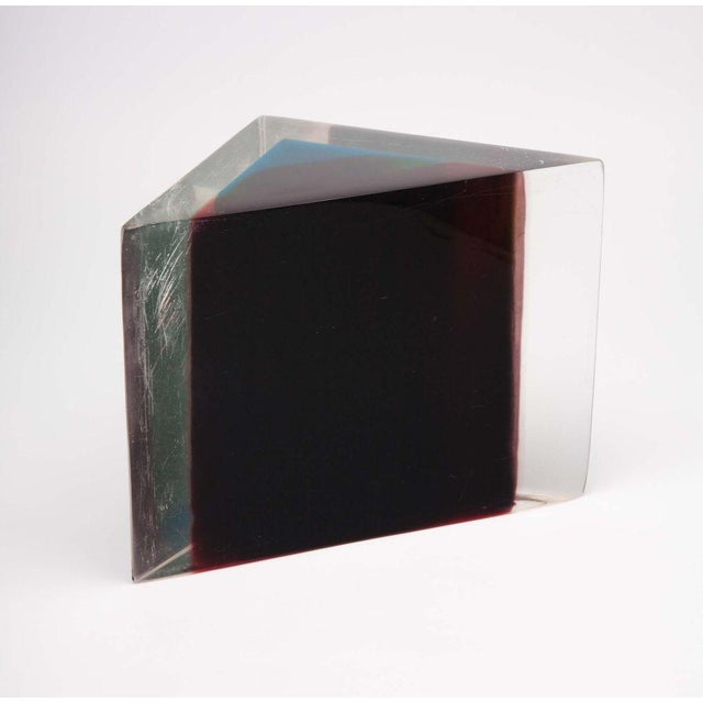 1970s Acrylic Rainbow Triangular Sculpture by Dennis Byng For Sale - Image 5 of 5