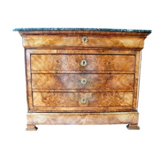 French 19th Century Walnut Commode For Sale