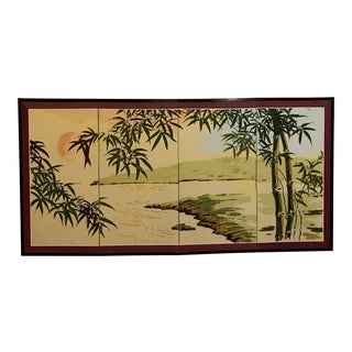Tropical Folding Screen For Sale