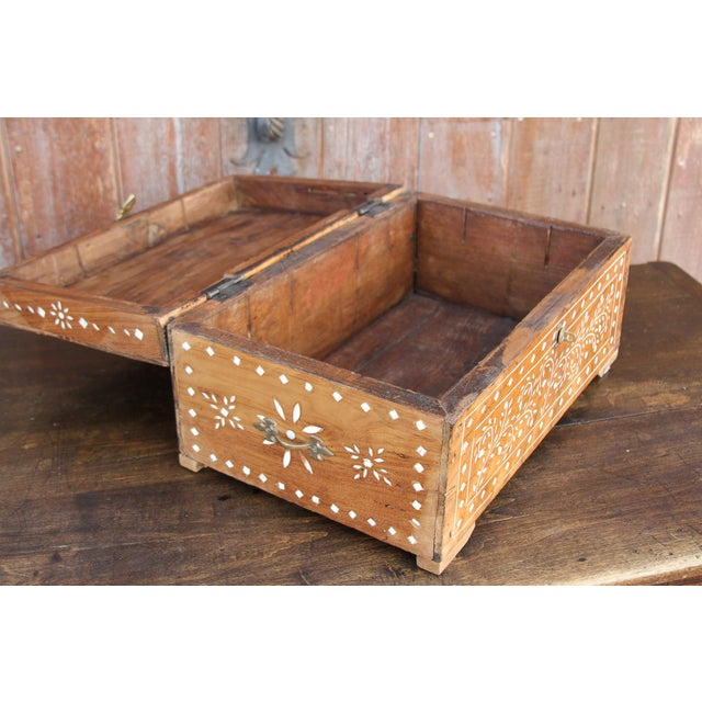 White Anglo-Indian Bone Inlay Document Box For Sale - Image 8 of 10