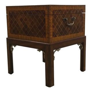 Inlaid Wood Storage Table