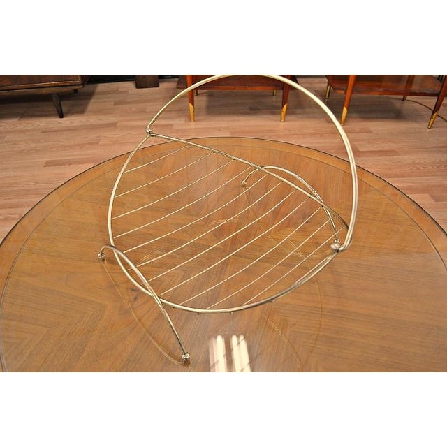 Mid-Century Atomic Era Magazine Basket For Sale - Image 4 of 10