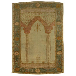 West Anatolian Antique Turkish Oushak Oversize Rug, Turkish Prayer Rug, 12'00 X 16'10 For Sale