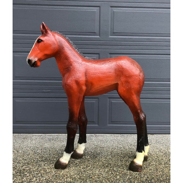 Vintage resin horse statue. Rare! Can't seem to find one like him anywhere.