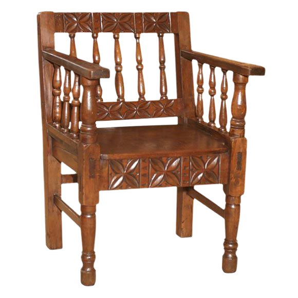 1860s Spanish Colonial Armchair For Sale