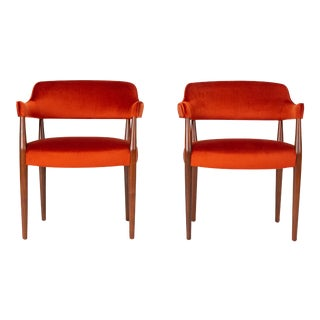 American Made Armchairs by J.G. Furniture Company - a Pair For Sale