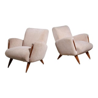 Pair of German Lounge Chairs, 1950s For Sale
