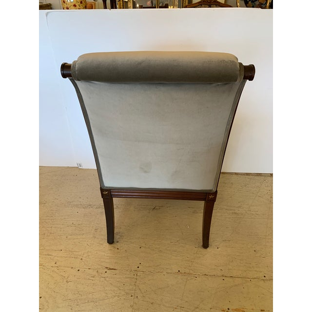 19th Century Mahogany Neoclassical Regency Style Arm Chair With Stars For Sale - Image 12 of 13