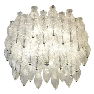 Seguso Murano Glass Chandelier, Italy, 1960s For Sale
