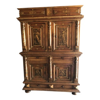 17th Century Italian Walnut Cupboard For Sale