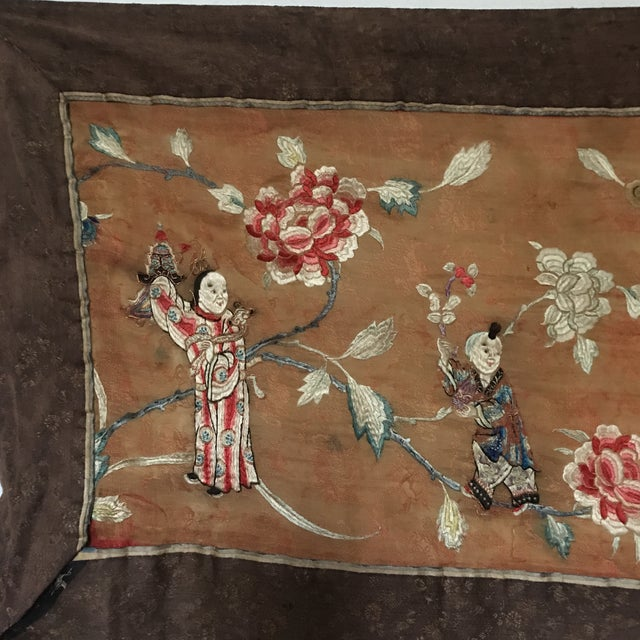 Tapestry - Chinese Vintage Silk - Image 3 of 8
