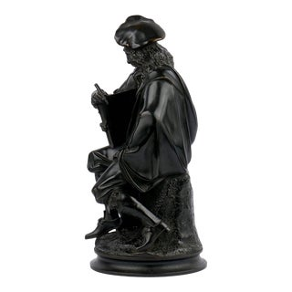 French Antique Bronze Sculpture of Rembrandt by Albert Carrier-Belleuse For Sale