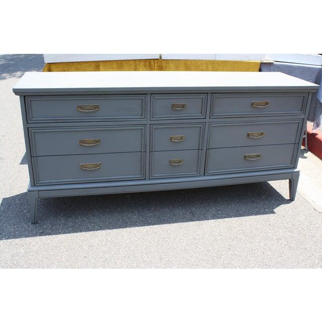 Mid-Century Dark Grey Dresser - Image 2 of 5