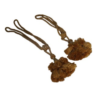 Italian Versace Gold Rope Tassels - a Pair For Sale
