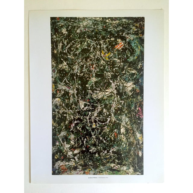 """Paper Jackson Pollock Foundation Abstract Expressionist Collector's Lithograph Print """" Full Fathom Five """" 1947 For Sale - Image 7 of 12"""