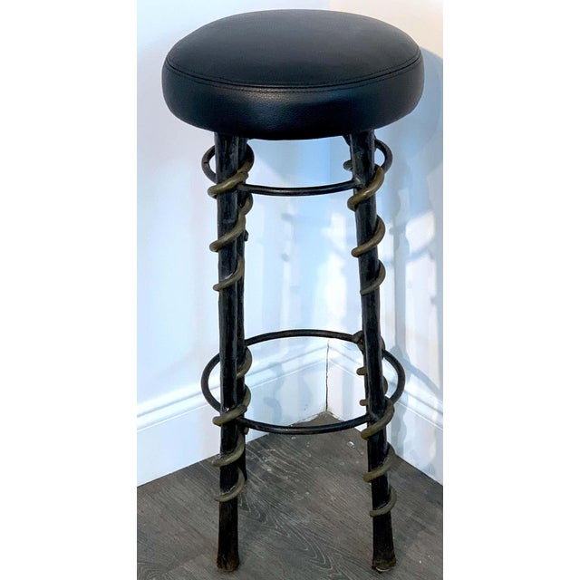 Mid-Century Modern Cobra' Stools by Karl Springe - a Pair For Sale - Image 3 of 10