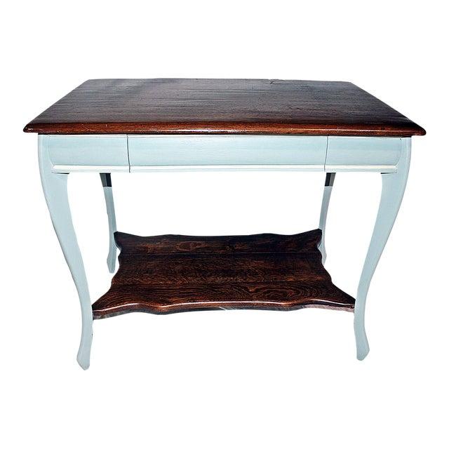 19th Century Early American Oak Writing Desk For Sale