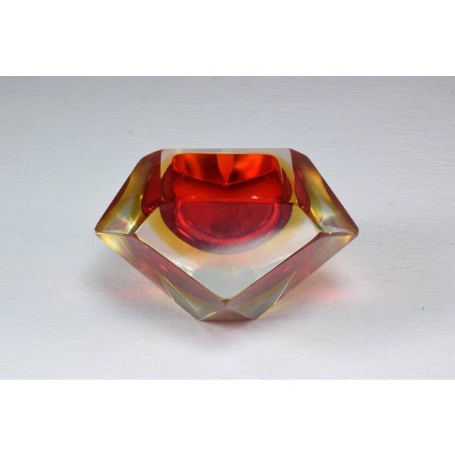 Red Italian Midcentury Murano Bowl by Flavio Poli, 1950s For Sale - Image 8 of 12