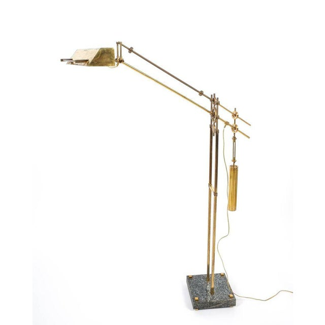 Nautical Nautical Brass Counterweight Floor Lamp, 1950 For Sale - Image 3 of 6