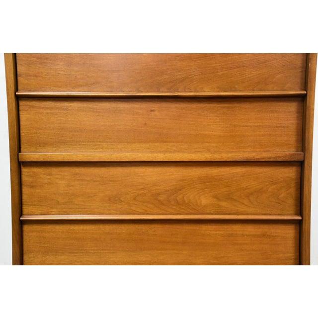 Walnut & Formica Tall Dresser - Image 8 of 9