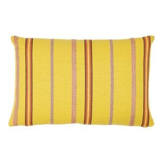 Schumacher Kayenta Pillow in Yellow For Sale