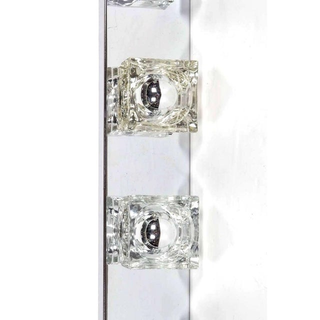 Mid-Century Modern Cubist Wall Light in Chrome by Gaetano Sciolari, Italy For Sale In Miami - Image 6 of 10