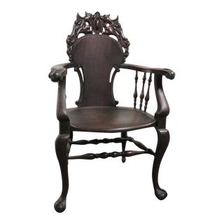 Horner Winged Griffin Mahogany Armchair For Sale