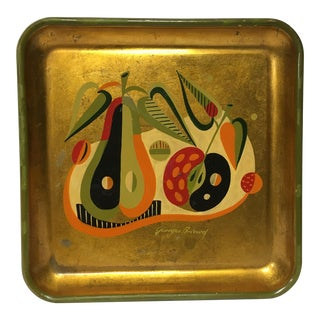Mid-Century George Briard Painted Tray For Sale