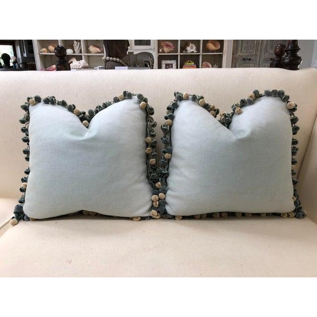 Two Robert Allen Endless Breeze Fabric And Scalamandre Silk Trim