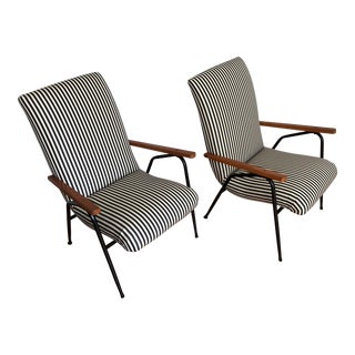 1960's Vintage Italian Style Lounge Chairs - a Pair