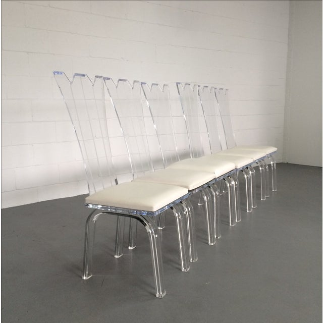 Lucite Dining Chairs - Set of 6 - Image 2 of 8