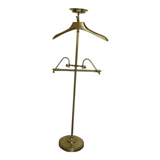 Antique Brass Valet Rack For Sale