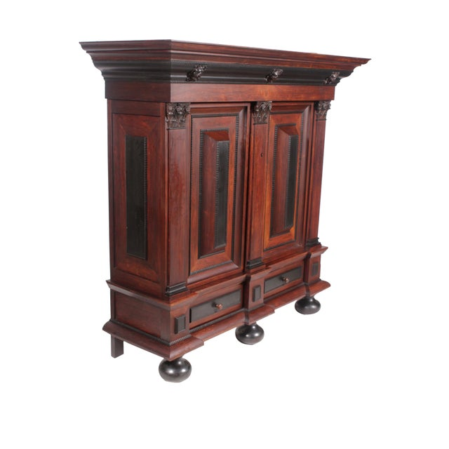 Baroque Flemish Baroque-Style Wardrobe For Sale - Image 3 of 9