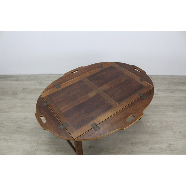 Mid-Century Walnut Tray Table For Sale - Image 10 of 12