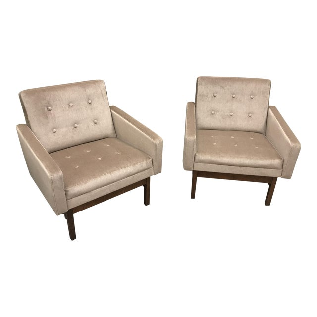 1970s Vintage Danish Club Chairs- A Pair For Sale