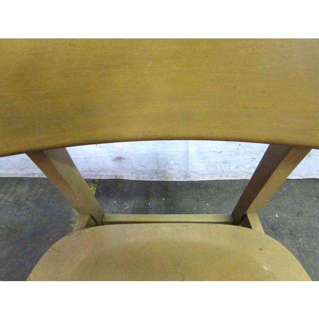 Wood Solid Maple School Chair For Sale - Image 7 of 10