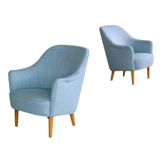 Carl Malmsten 1950s Lounge Chairs Model Samspel for O.H. Sjögren - A Pair