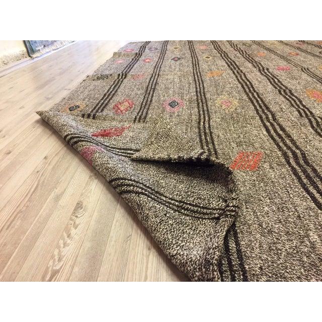 Textile Turkish Kilim Handwoven Rug - 5′8″ × 8′10″ For Sale - Image 7 of 7