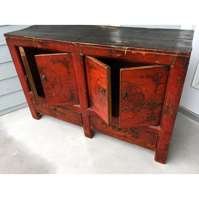 Asian Gansu Sideboard Cabinet - Image 4 of 11