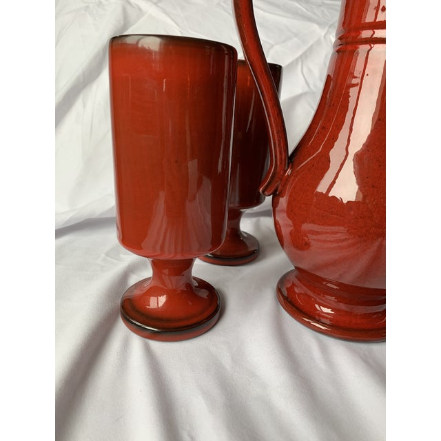Boho Chic 1970s French Orange Flambé Glaze Pottery by Pol Chambost For Sale - Image 3 of 13