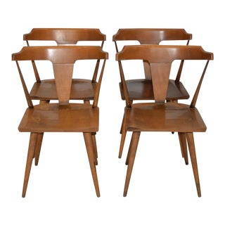Set of Four Paul McCobb Planner Group Solid Maple Dining Chairs C.1950s For Sale