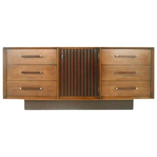 Mid-Century Modern American Walnut Dresser For Sale