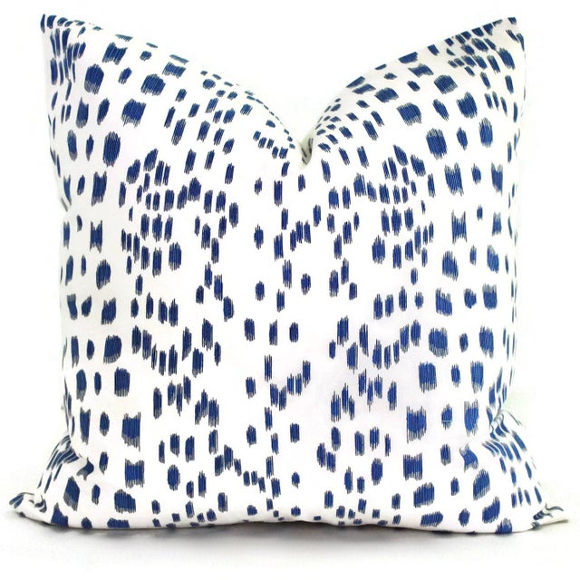 Add a pop o blue to your room with this iconic brunschwig and fils pattern. This a crisp clean look with an abstract...