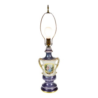 Victorian Limoges Ulrich Style Table Lamp For Sale