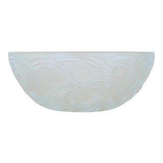 Vintage 1933 Lalique French Clear & Frosted Glass 'Pinsons' Bowl by Rene Lalique For Sale