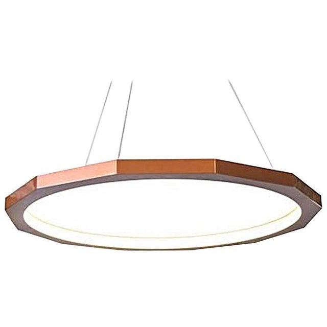 Matthew McCormick 28 Dodeca Pendant Drop Chandelier, Copper For Sale - Image 9 of 9