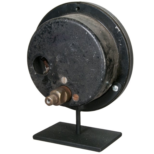 Vintage Ashcroft Gauge on Iron Stand - Image 2 of 2