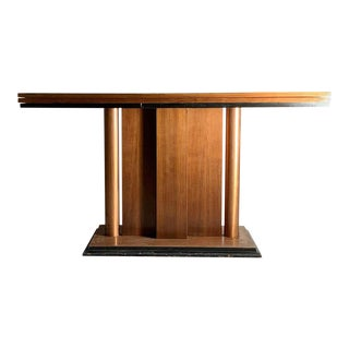 Art Deco Flip Top Console Dining Table attributed to Donald Deskey For Sale